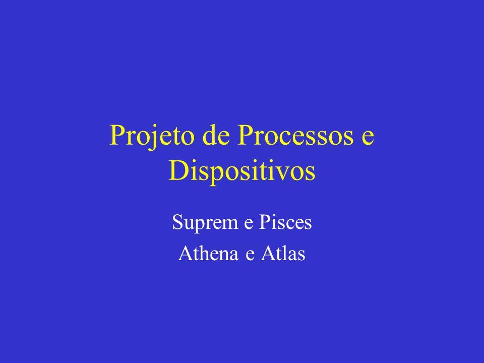 Projeto de Processos e Dispositivos Suprem e Pisces Athena e Atlas