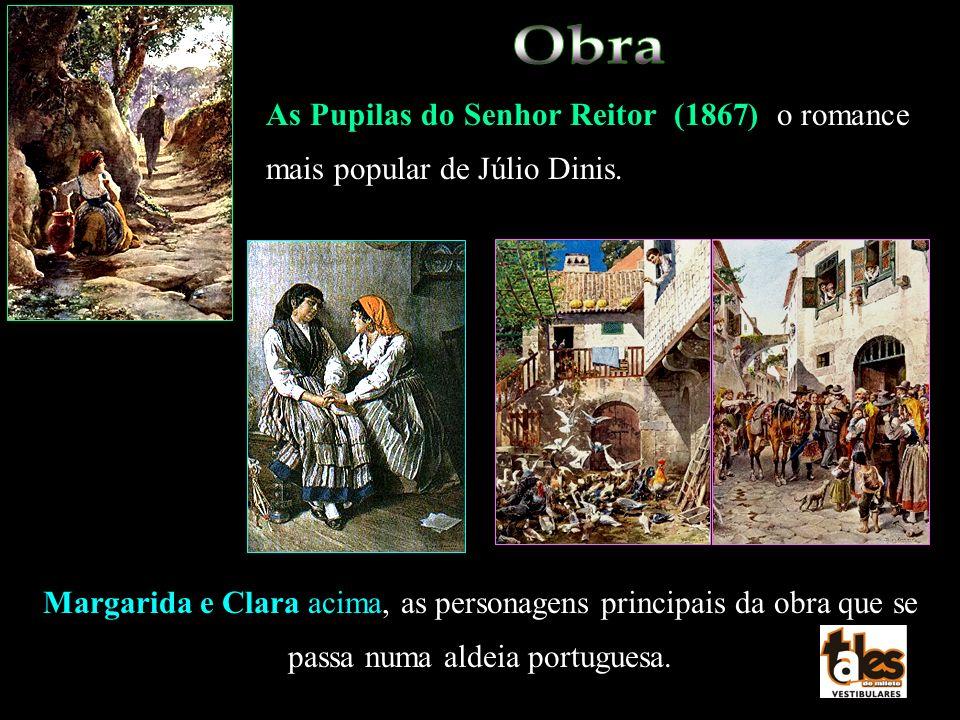 As Pupilas do Senhor Reitor (1867) o romance mais popular de Júlio Dinis. Margarida e Clara acima, as personagens principais da obra que se passa numa