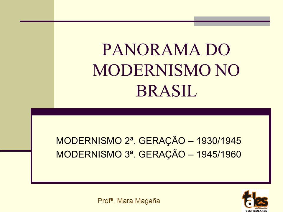 PANORAMA DO MODERNISMO NO BRASIL MODERNISMO 2ª.GERAÇÃO – 1930/1945 MODERNISMO 3ª.