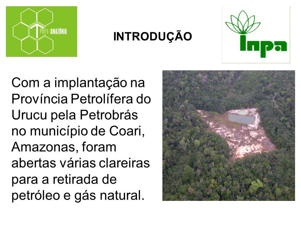 Com a implantação na Província Petrolífera do Urucu pela Petrobrás no município de Coari, Amazonas, foram abertas várias clareiras para a retirada de