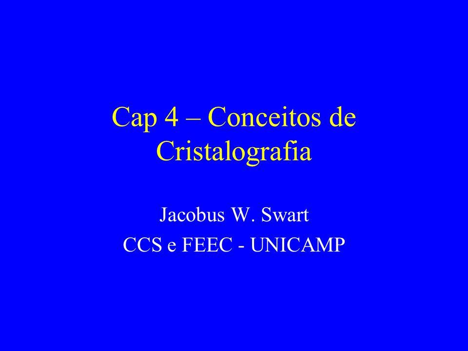 Sumário Introdução Célula unitária e sistemas cristalinos Orientação de planos de um cristal Determinação da estrutura de um cristal Defeitos em cristalinos