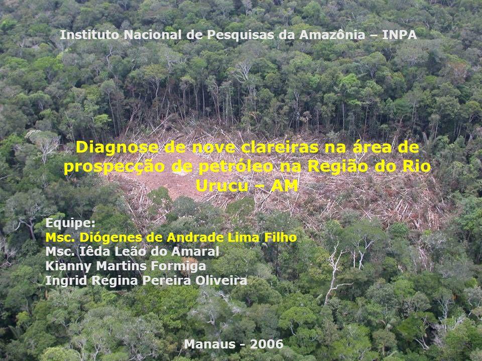 Floresta Amazônica; Caracterização florística para diagnosticar as espécies que compõem as clareiras de jazidas,poços e áreas adjacentes.