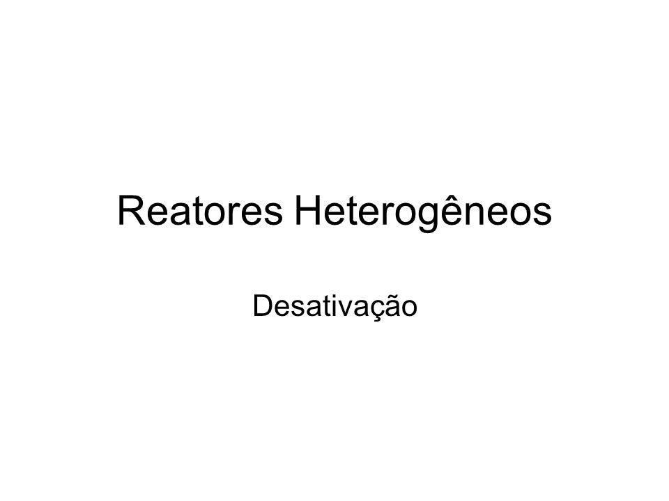 Reatores Heterogêneos Desativação