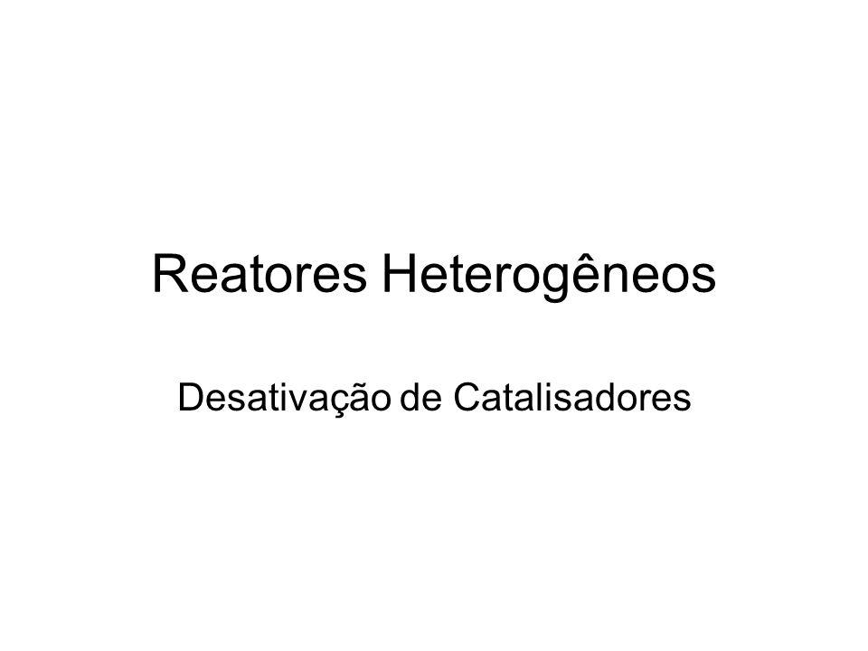 Reatores Heterogêneos Desativação de Catalisadores