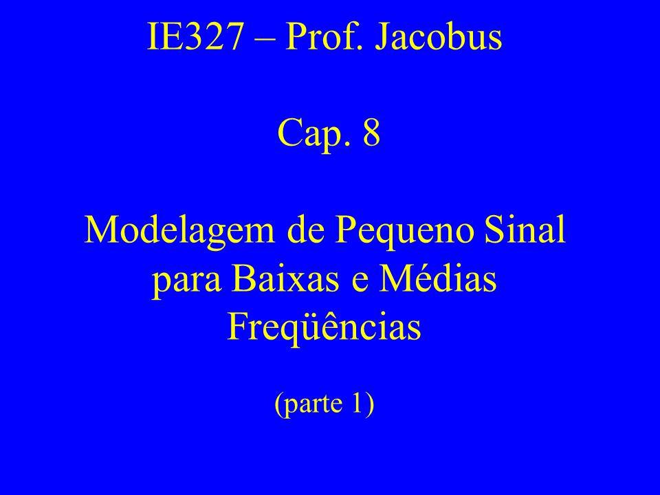 IE327 – Prof. Jacobus Cap. 8 Modelagem de Pequeno Sinal para Baixas e Médias Freqüências (parte 1)