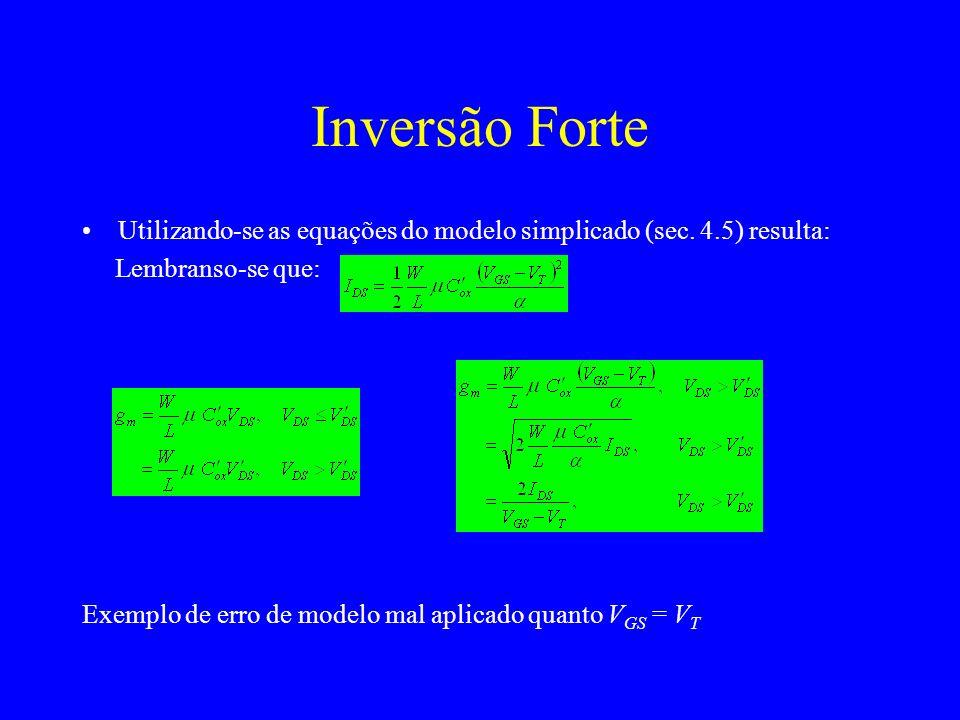 Utilizando-se as equações do modelo simplicado (sec.