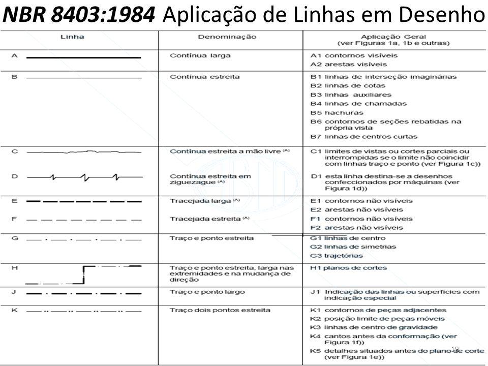 NBR 8403:1984 Aplicação de Linhas em Desenho 19