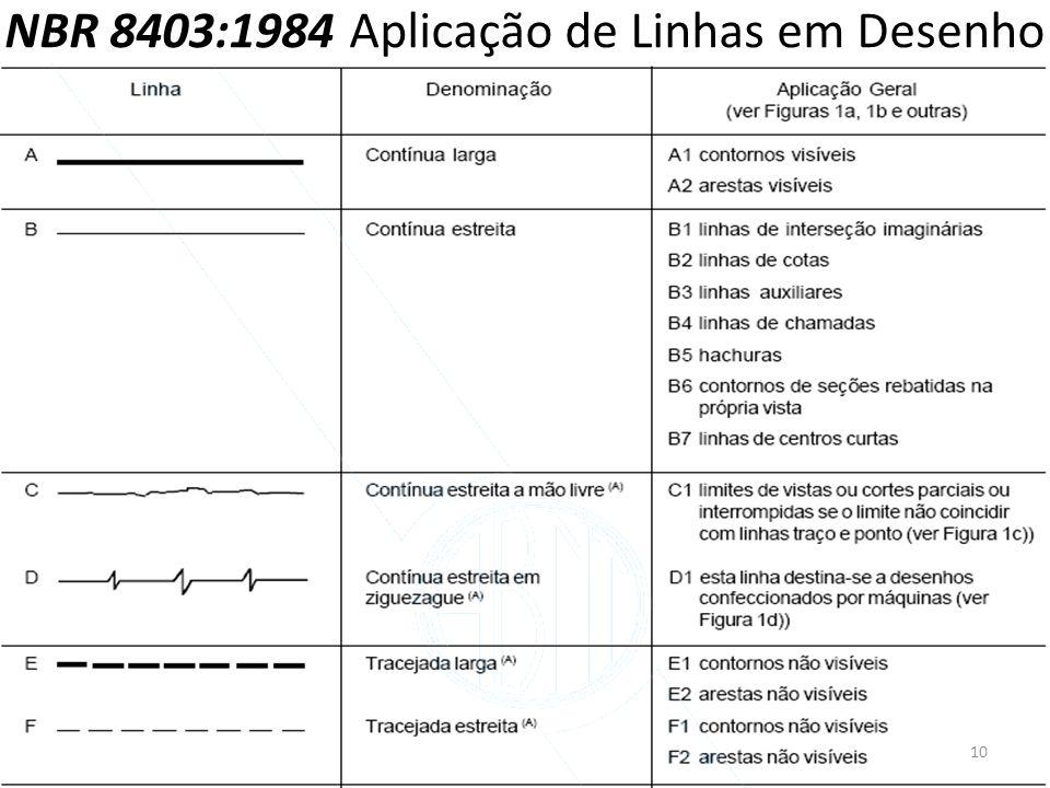 NBR 8403:1984 Aplicação de Linhas em Desenho 10