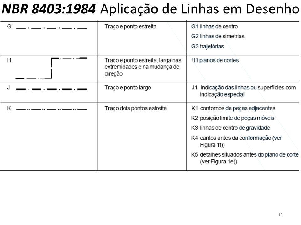 NBR 8403:1984 Aplicação de Linhas em Desenho 11