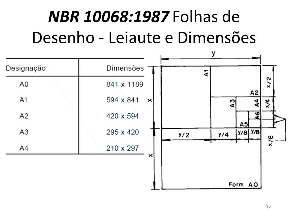 NBR 10068:1987 Folhas de Desenho - Leiaute e Dimensões 13