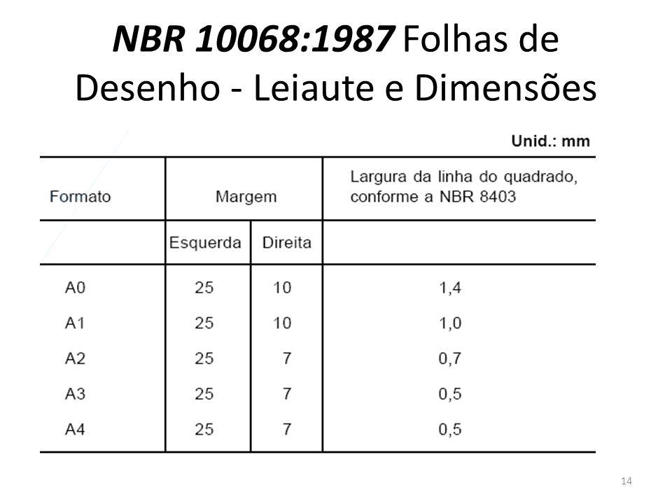 NBR 10068:1987 Folhas de Desenho - Leiaute e Dimensões 14