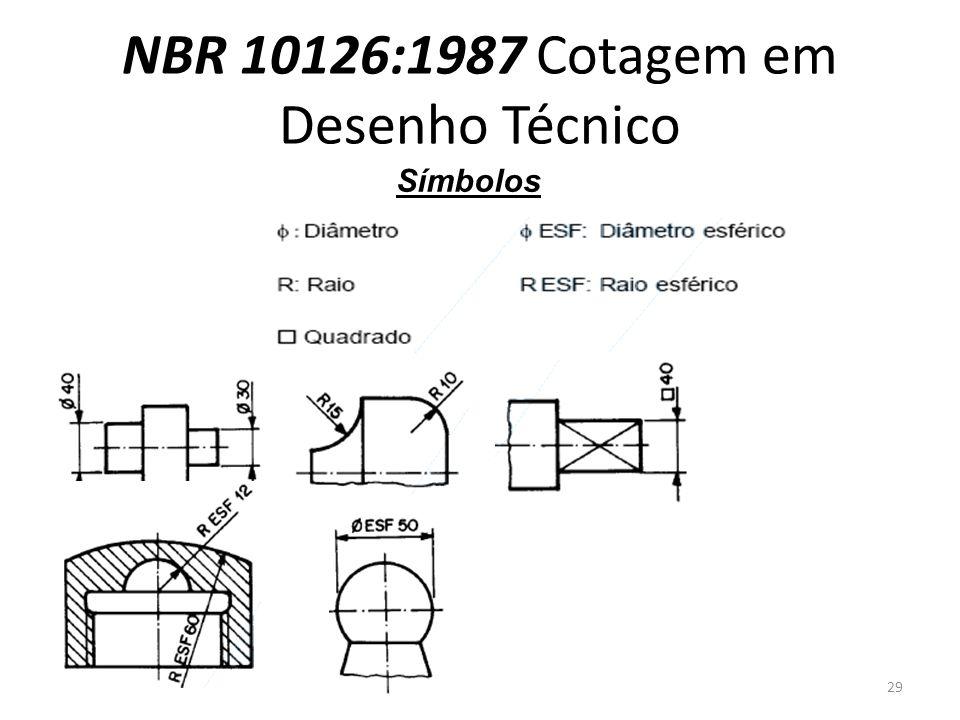 NBR 10126:1987 Cotagem em Desenho Técnico Símbolos 29