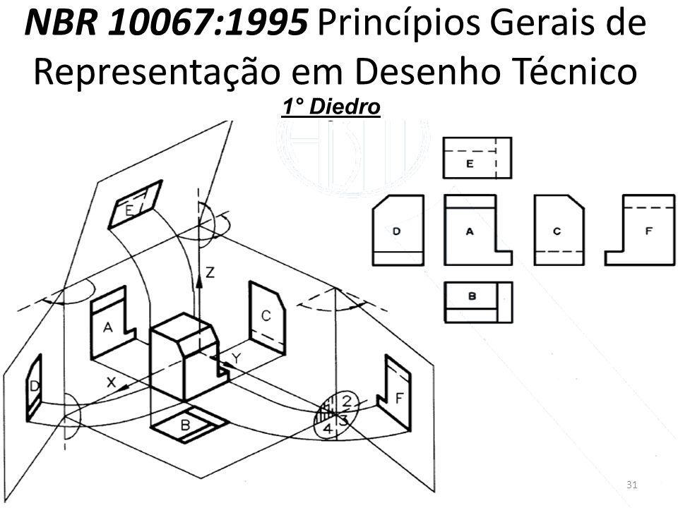 NBR 10067:1995 Princípios Gerais de Representação em Desenho Técnico 1° Diedro 31