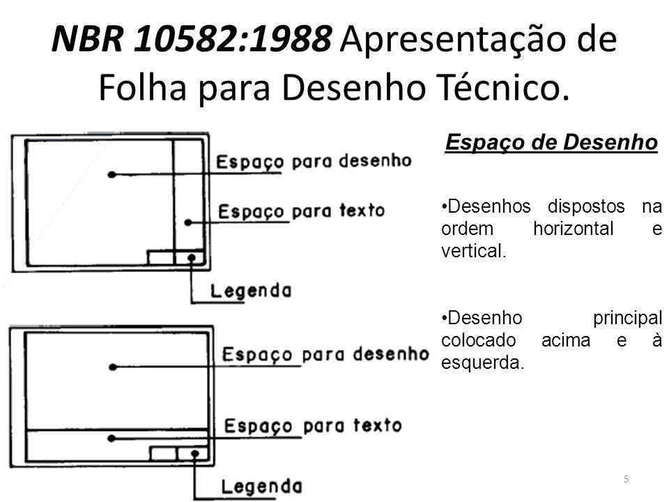 Espaço de Desenho Desenhos dispostos na ordem horizontal e vertical. Desenho principal colocado acima e à esquerda. 5
