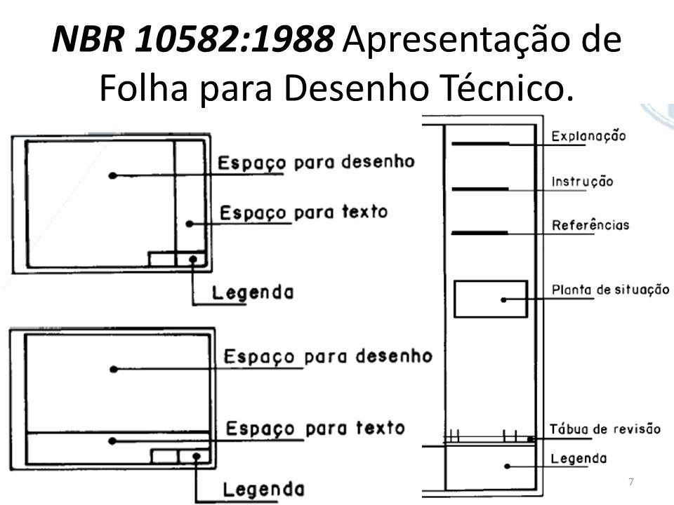 NBR 10582:1988 Apresentação de Folha para Desenho Técnico. 7