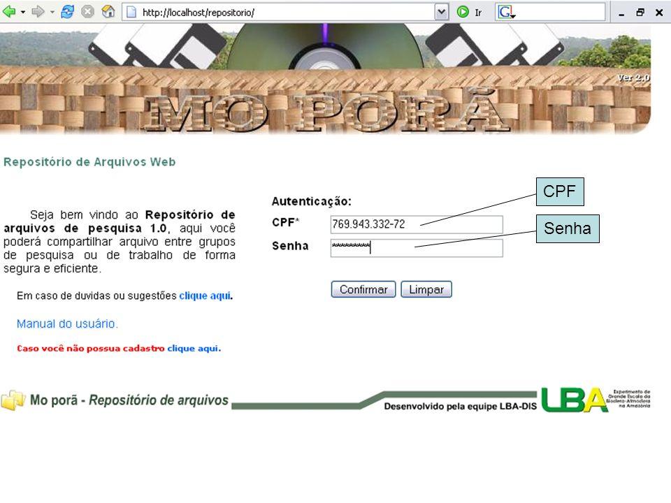 Recursos das novas versões: (versão 2.0) –Mo porã atualmente: Sitio LBA; Sitio PPBio; Sitio Rede CTPetro; –Problemáticas: Informações estão distribuídas pelos sítios; Melhorias nas ferramentas de gerenciamento dos arquivos; Ferramentas de dialogo com outros usuários on- line;