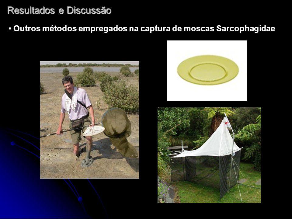 Resultados e Discussão Outros métodos empregados na captura de moscas Sarcophagidae