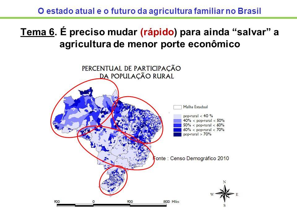 O estado atual e o futuro da agricultura familiar no Brasil Tema 6. É preciso mudar (rápido) para ainda salvar a agricultura de menor porte econômico