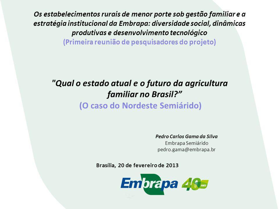 Os estabelecimentos rurais de menor porte sob gestão familiar e a estratégia institucional da Embrapa: diversidade social, dinâmicas produtivas e dese