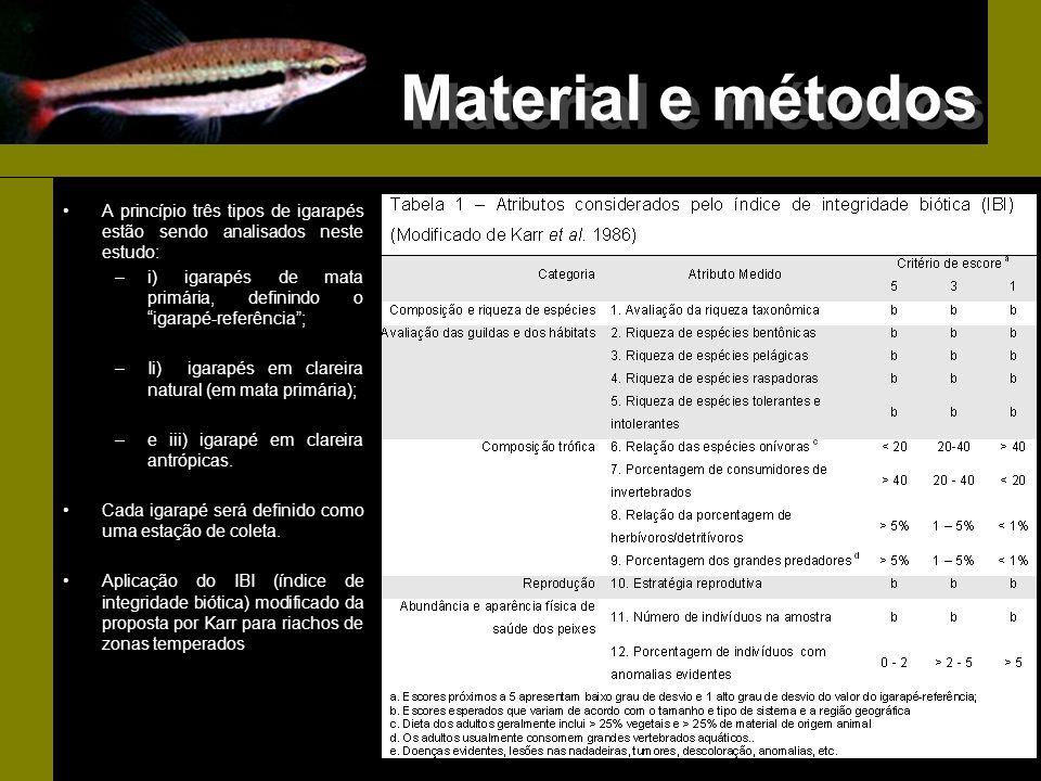 Próximas etapas Refinamento do processo de identificação das espécies; Coletas na época de cheia e transição cheia- seca; Classificação trófica das espécies Aplicação do IBI (modificado)