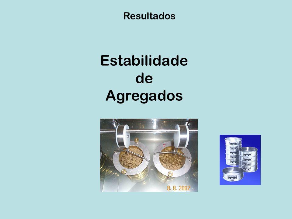 Estabilidade de agregados Jazida 79 – (0 ano) Jazida 18 – (5 anos) Jazida 93 – (10 anos) DMG (mm) %Agr (> 2 mm) DMG (mm) %Agr (> 2 mm) DMG (mm) %Agr (> 2 mm) 0.287 n.s 4.56 b 0.239 n.s 3.49 b 1.596 n.s 21.51 a Perfil Argissolos 1 – Prox.