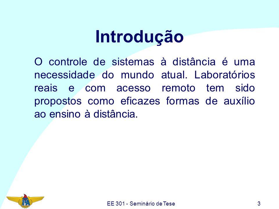 EE 301 - Seminário de Tese4 Por que laboratório real remoto.