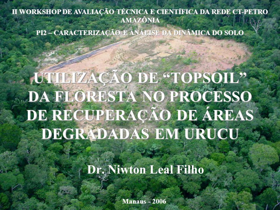 UTILIZAÇÃO DE TOPSOIL DA FLORESTA NO PROCESSO DE RECUPERAÇÃO DE ÁREAS DEGRADADAS EM URUCU Dr.