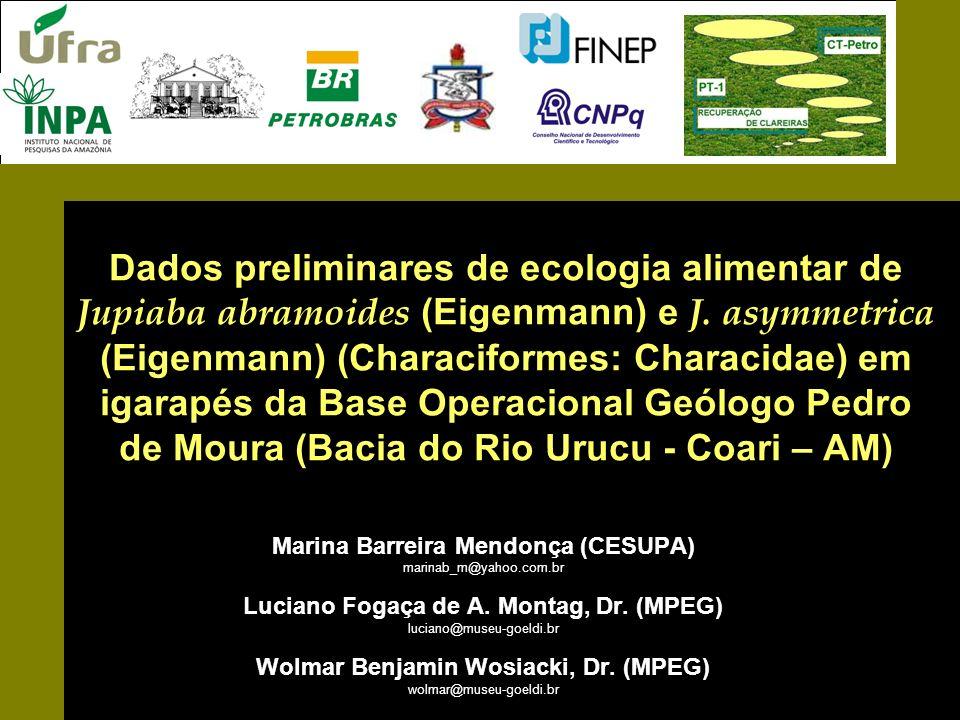 Dados preliminares de ecologia alimentar de Jupiaba abramoides (Eigenmann) e J. asymmetrica (Eigenmann) (Characiformes: Characidae) em igarapés da Bas