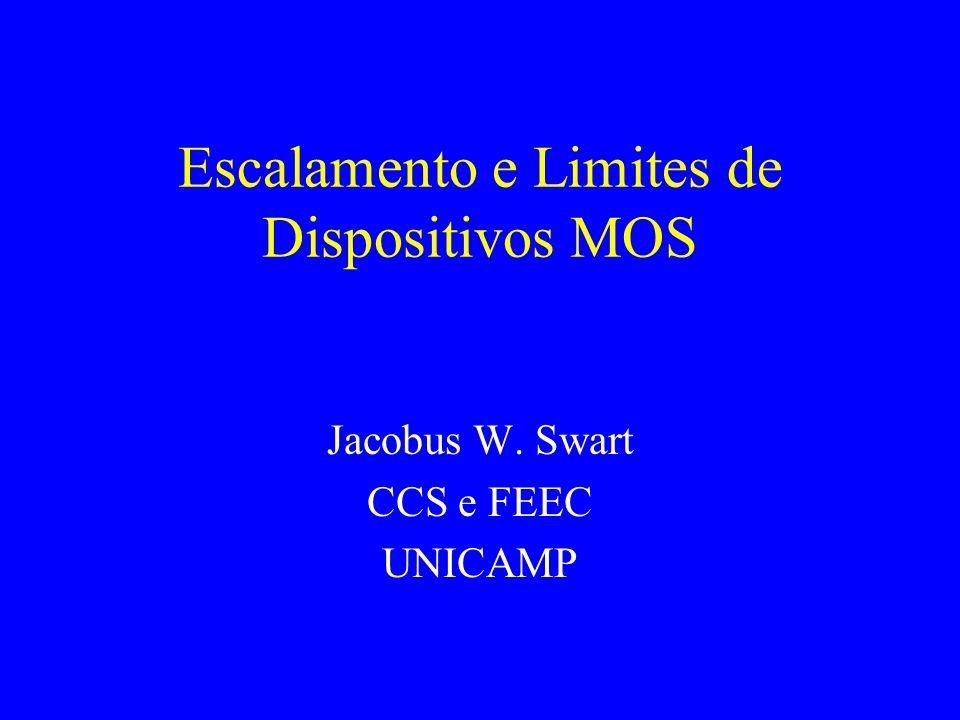 Escalamento e Limites de Dispositivos MOS Jacobus W. Swart CCS e FEEC UNICAMP