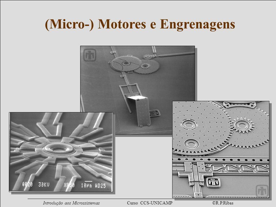 Introdução aos Microssistemas Curso CCS-UNICAMP ©R.P.Ribas Micro-Fluídica Válvula (surface / back-side bulk micromachining) fechada aberta fluxo Bomba de Propulsão (processo híbrido) fluxo entrada saída