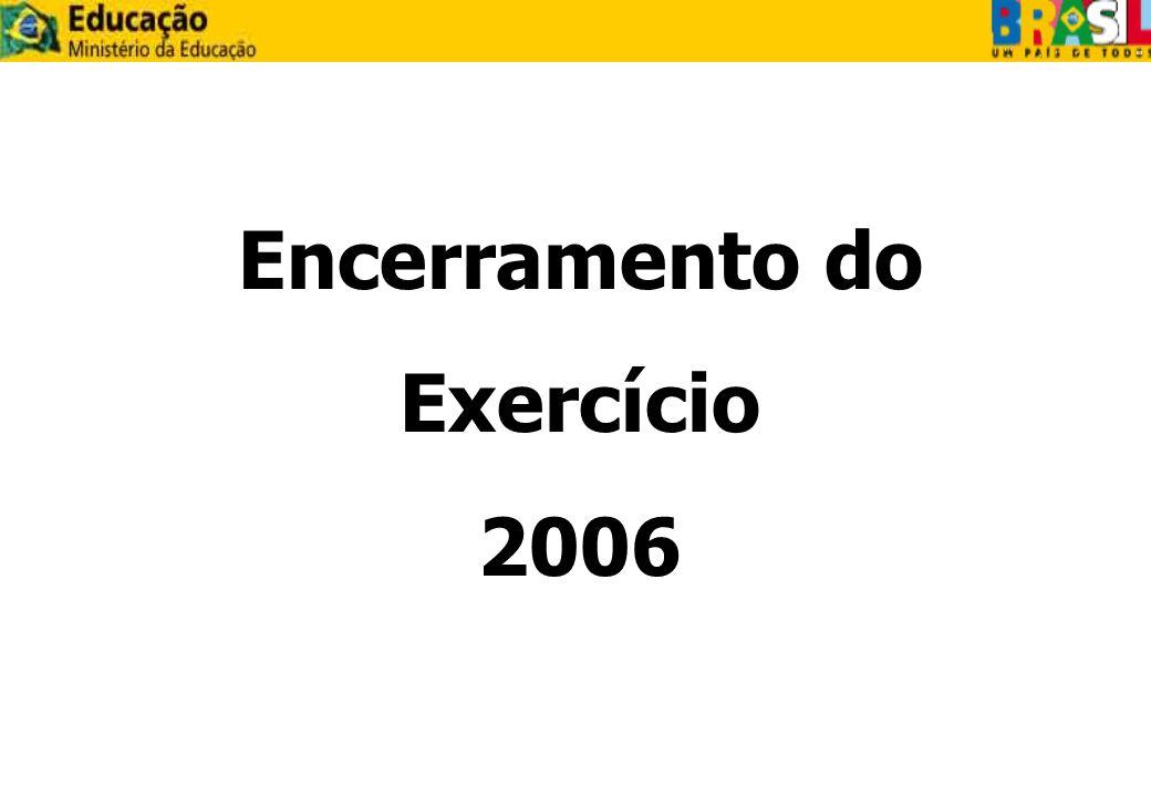 Encerramento do Exercício 2006