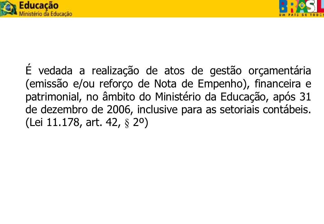 Tipo 2 – Balanço Patrimonial >BALANSINT(Gestão, Órgão/Gestão) >CONBALANUG(UG/Gestão) 1.
