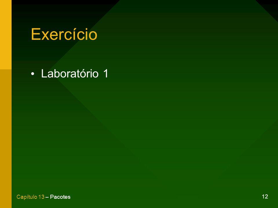 12 Capítulo 13 – Pacotes Exercício Laboratório 1