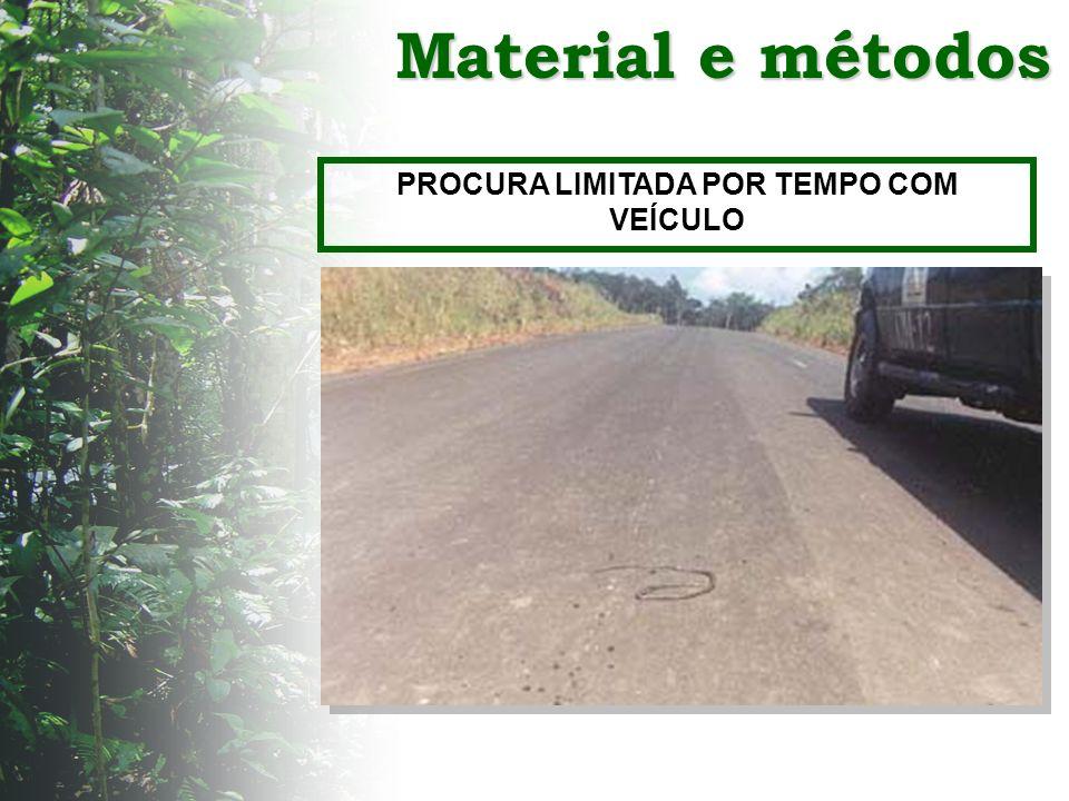 Material e métodos PROCURA LIMITADA POR TEMPO COM VEÍCULO