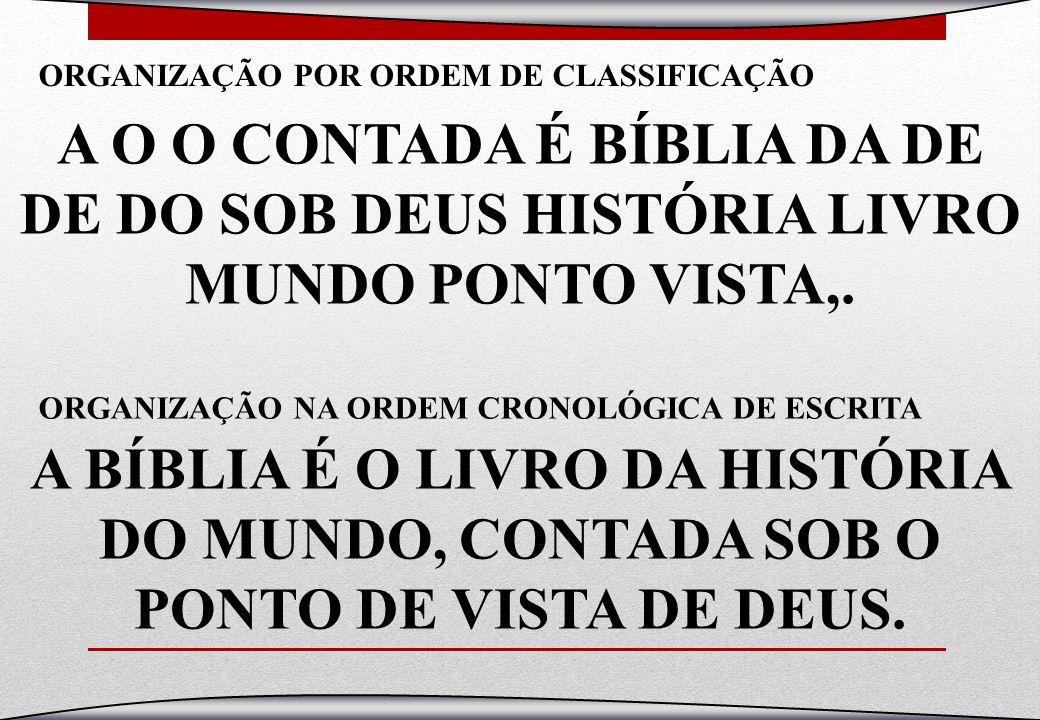 A O O CONTADA É BÍBLIA DA DE DE DO SOB DEUS HISTÓRIA LIVRO MUNDO PONTO VISTA,. A BÍBLIA É O LIVRO DA HISTÓRIA DO MUNDO, CONTADA SOB O PONTO DE VISTA D