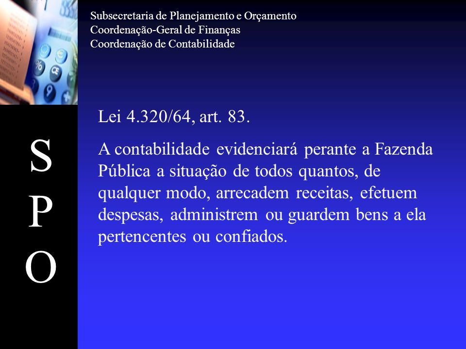 SPOSPO Lei 4.320/64, art.85.
