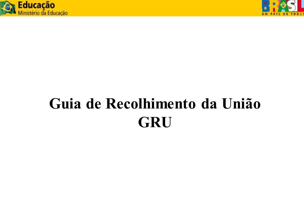 Guia de Recolhimento da União GRU