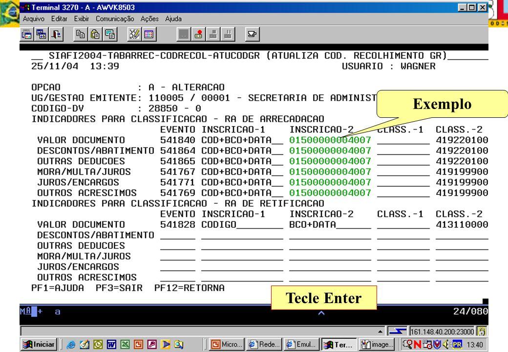 Tecle Enter Exemplo