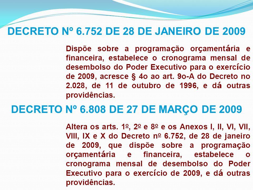PORTARIA INTERMINISTERIAL MP/MF Nº 64 DE 30 DE MARÇO DE 2009 Estabelece os limites de pagamentos relativos à dota ç ões constantes da Lei Or ç ament á ria de 2009 e aos Restos a Pagar de 2008.