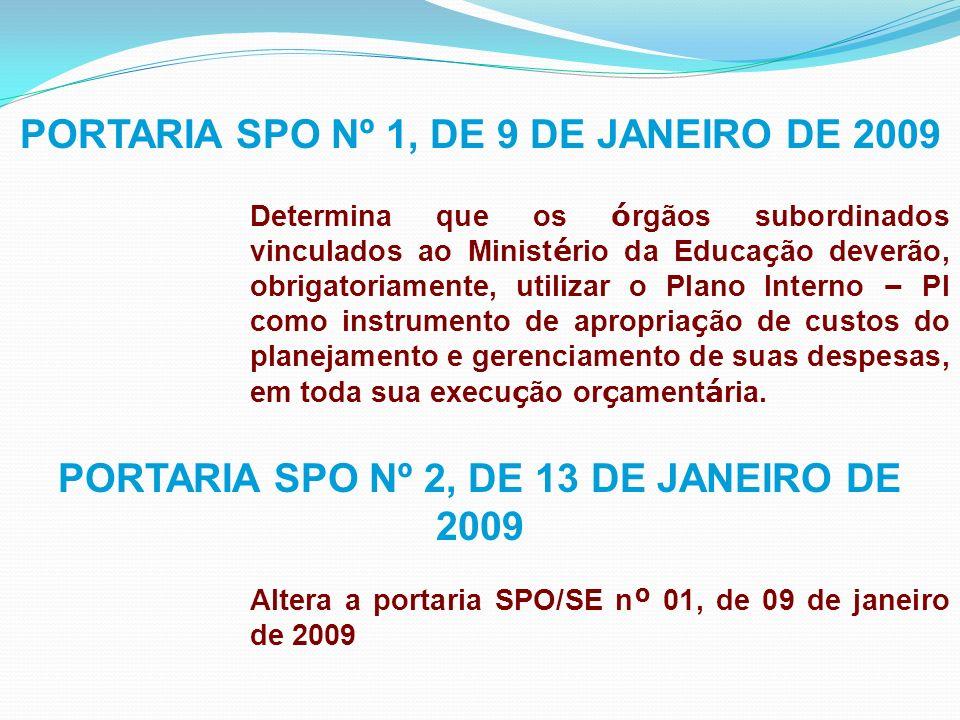 PORTARIA Nº 2, DE 12 DE JANEIRO DE 2009 Estabelece procedimentos e prazos para solicita ç ão de altera ç ões or ç ament á rias, no exerc í cio de 2009, e d á outras providências.