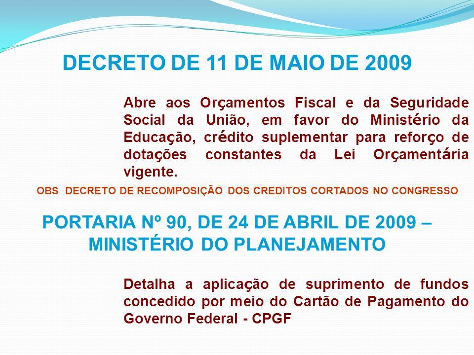 Portaria SPO Nº01/2009- Art.