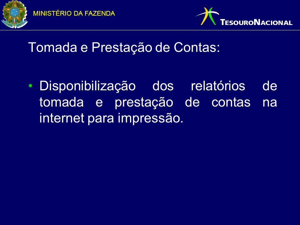 MINISTÉRIO DA FAZENDA Tratamento das despesas já liquidadas - 2006: Será feita apuração especial para efetuar os lançamentos na conta 292410104, para todos os documentos de liquidação feitos até hoje.