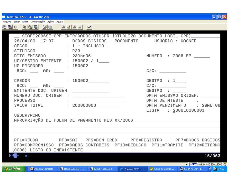 1 – Emitir empenho na modalidade 91, na natureza de despesa 319113 – Contribuições Patronais, informando como favorecido do empenho a unidade gestora 170502 (STN/COFIN) Gestão 0001(Tesouro).