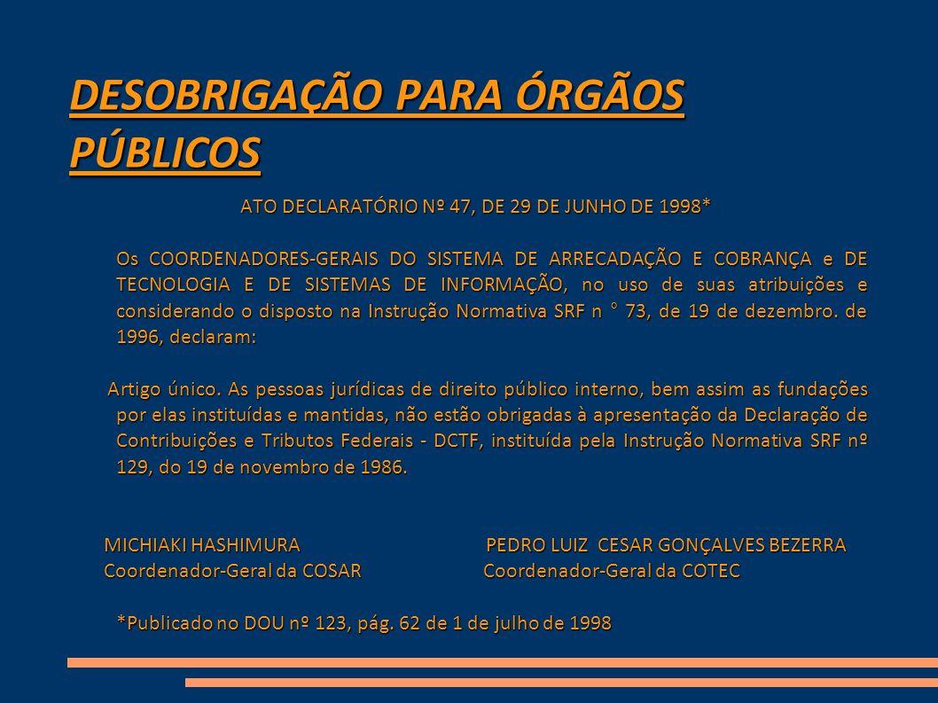 Providências FONDCF A Coordenação Nacional do FONDCF, no período de 22 a 24 de março de 2010, em Reunião com o Dr.