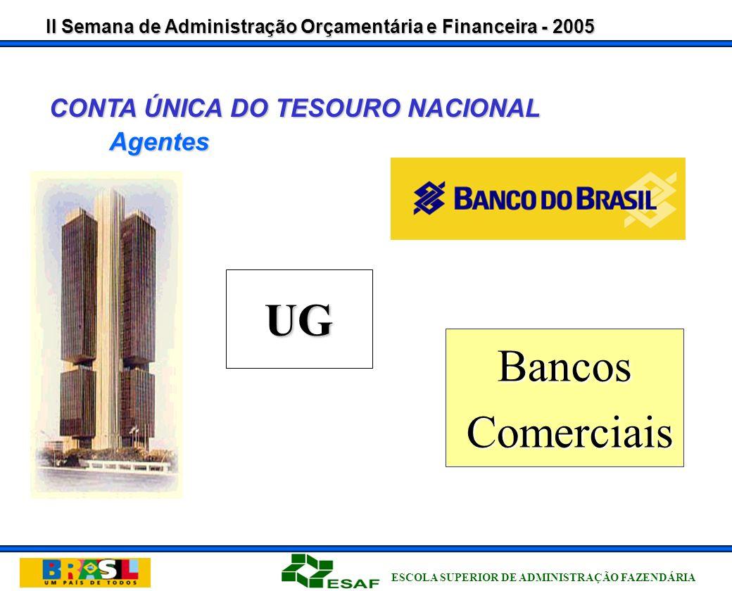 II Semana de Administração Orçamentária e Financeira - 2005 ESCOLA SUPERIOR DE ADMINISTRAÇÃO FAZENDÁRIA Importância do SIAFI CONTA ÚNICA DO TESOURO NACIONAL