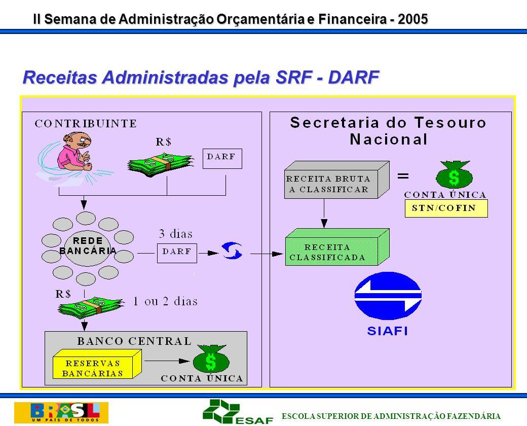 II Semana de Administração Orçamentária e Financeira - 2005 ESCOLA SUPERIOR DE ADMINISTRAÇÃO FAZENDÁRIA IN STN n.º 4/04, 30/08/2004 Art.