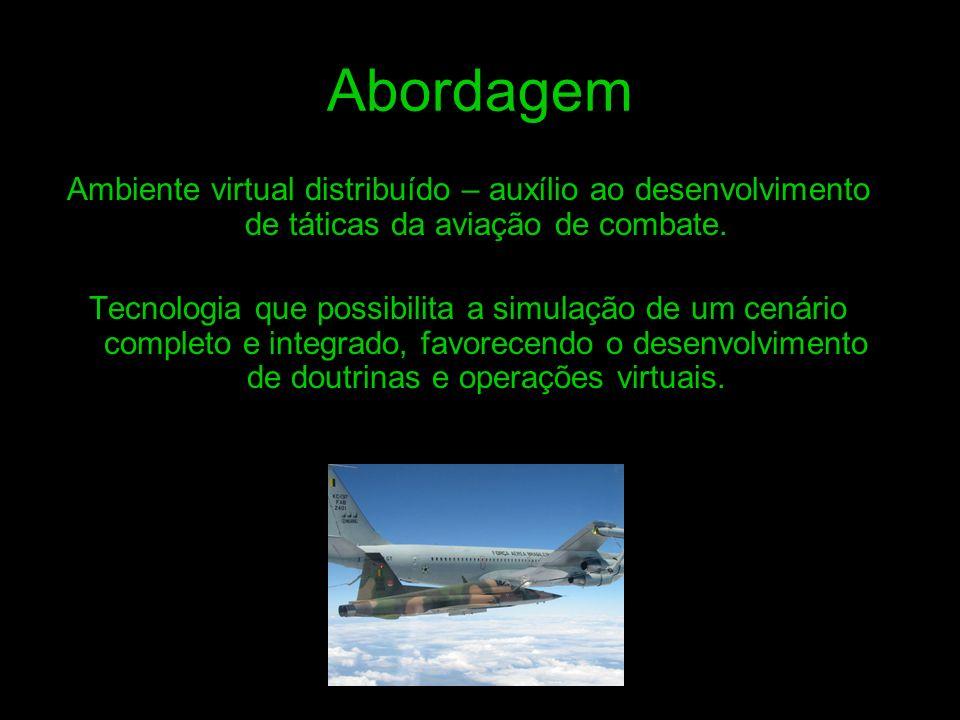 Abordagem Ambiente virtual distribuído – auxílio ao desenvolvimento de táticas da aviação de combate. Tecnologia que possibilita a simulação de um cen