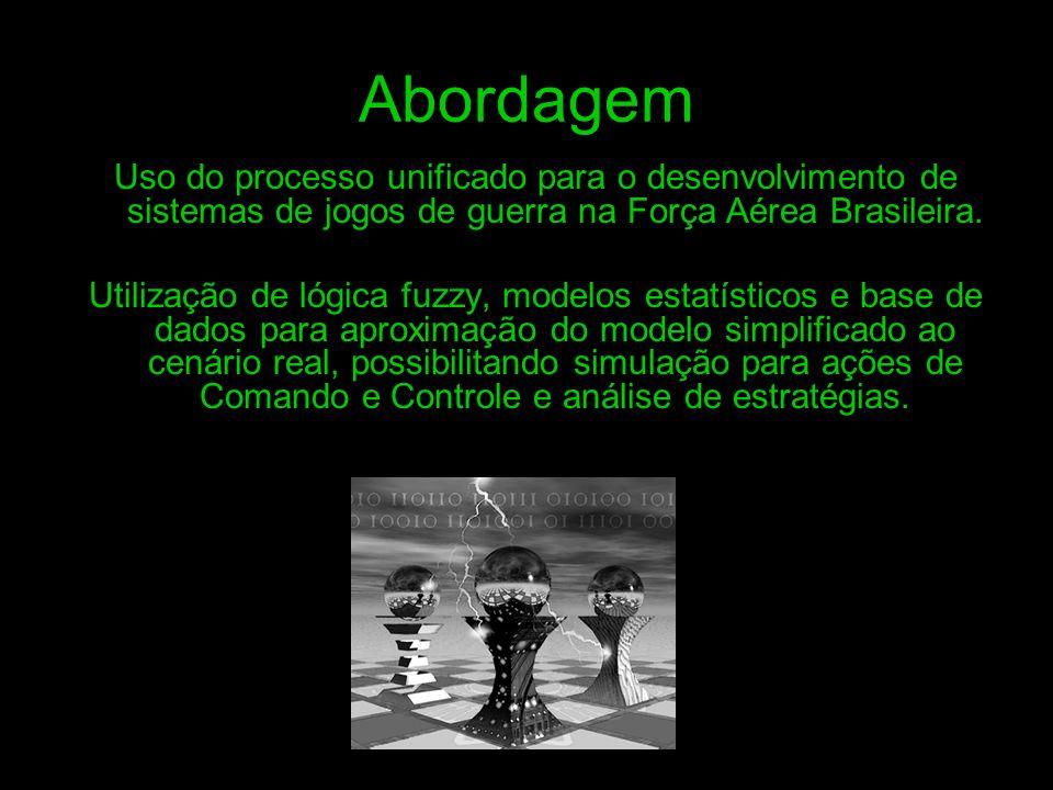 Abordagem Uso do processo unificado para o desenvolvimento de sistemas de jogos de guerra na Força Aérea Brasileira. Utilização de lógica fuzzy, model