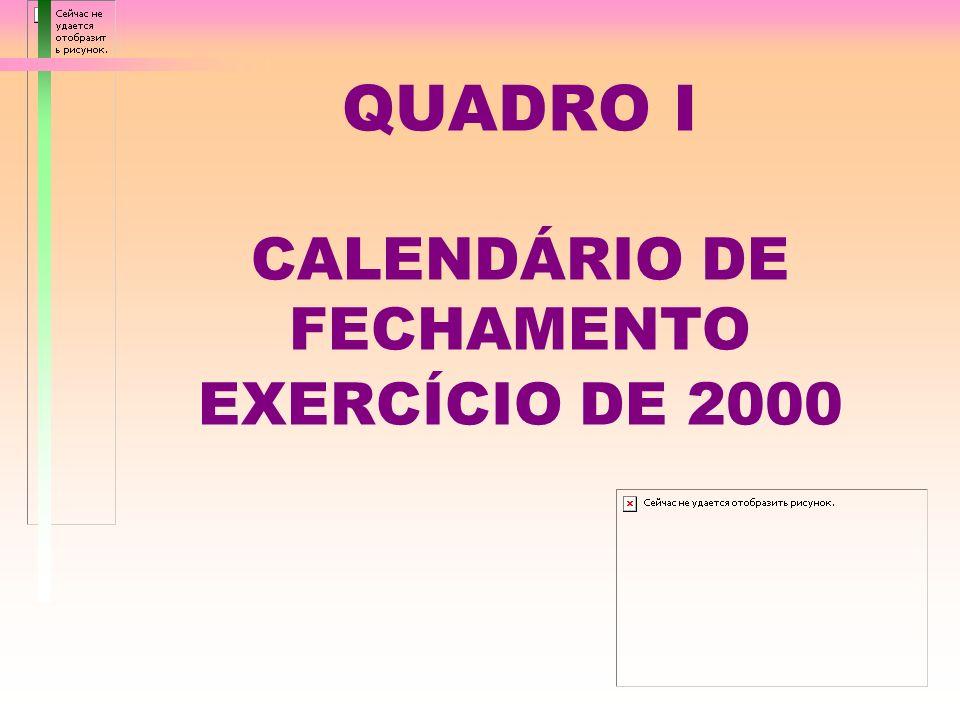 ENCERRAMENTO DO EXERCÍCIO DE 2000