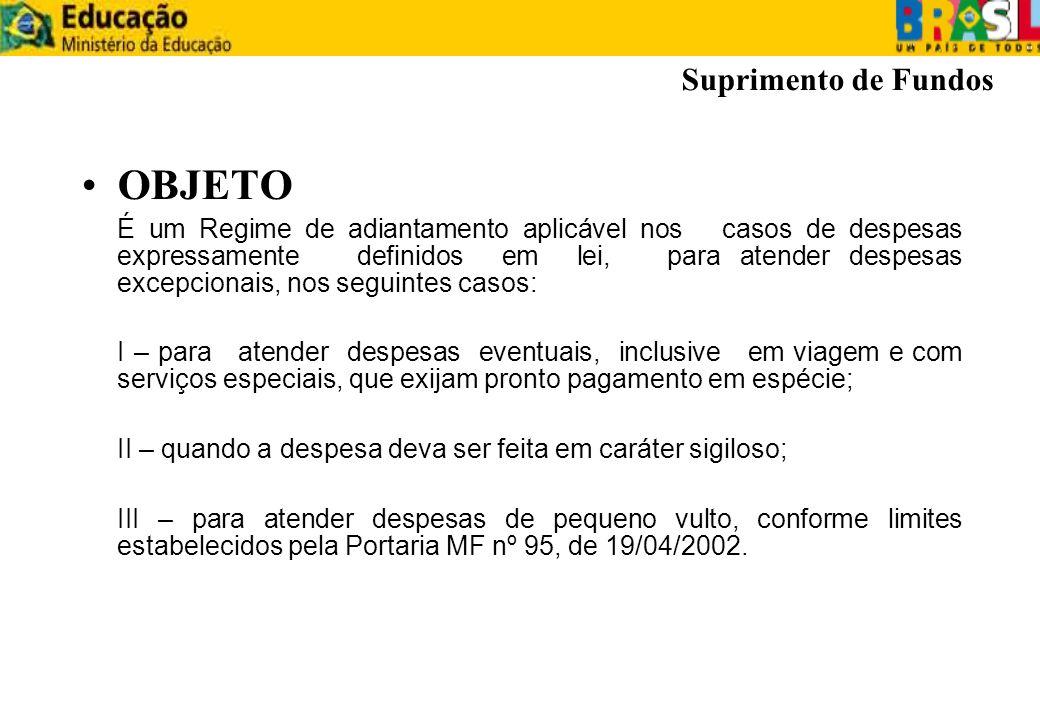 ASPECTOS GERAIS – CPGF detentor do cartão poderá utilizá-lo para saque e pagamento da fatura mensal; detentor do cartão poderá utilizá-lo para saque e pagamento da fatura mensal; A fatura vencerá sempre no dia 10 de cada mês; A fatura vencerá sempre no dia 10 de cada mês; O Banco do Brasil disponibilizará a fatura até o dia 5; O Banco do Brasil disponibilizará a fatura até o dia 5; O pagamento da fatura será efetuado por meio de OBD (OB Fatura); O pagamento da fatura será efetuado por meio de OBD (OB Fatura); Não será admitida cobrança de anuidade ou taxas para utilização do cartão.